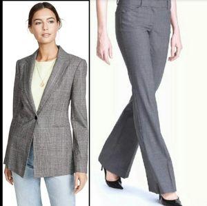 Theory grey plaid 2 piece suit max c renew